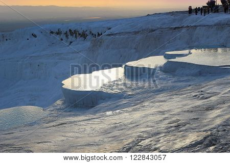 Travertine Terraces At Pamukkale