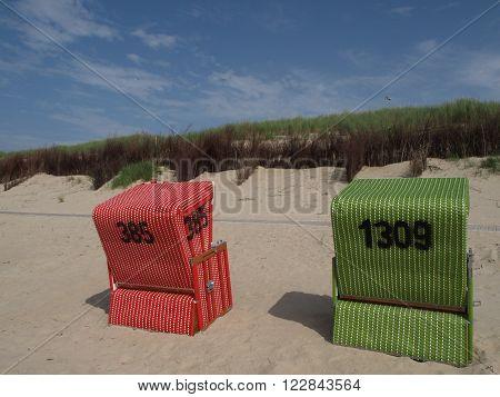 the nice beach of the Island of langeoog