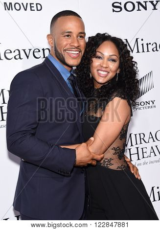 LOS ANGELES - MAR 09:  Devon Franklin & Meagan Good arrives to the