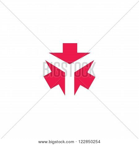 Three Arrows Logo Form Letter Y Creative Tech Emblem, 3 Cursor Direction Converge In One Point, Busi