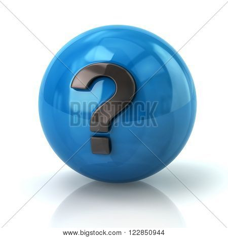 Blue Sphere With The Question Mark