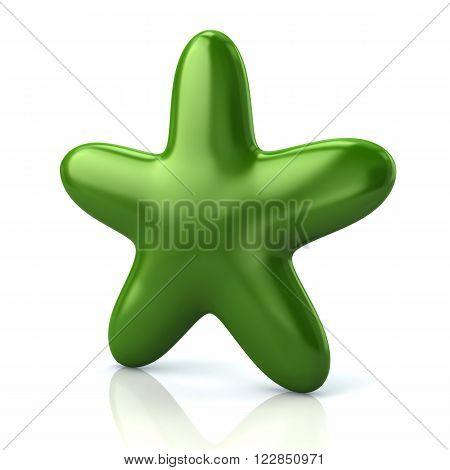 Shiny Green  Star