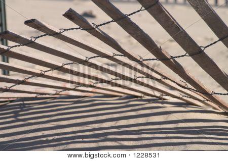 Falling Beach Fence