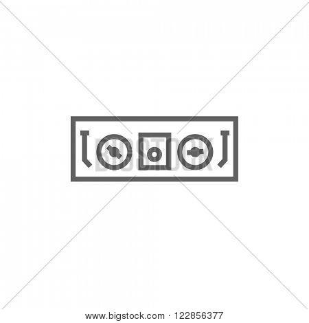 DJ console line icon.