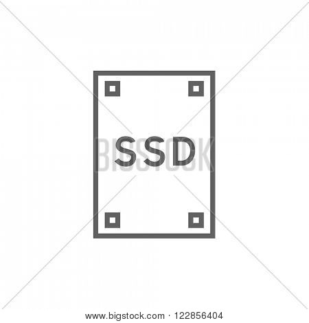 Solid state drive line icon.