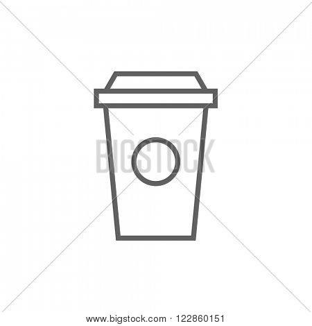 Disposable cup line icon.