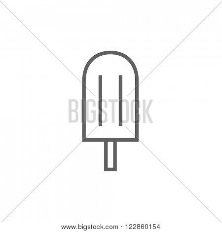 Popsicle line icon.
