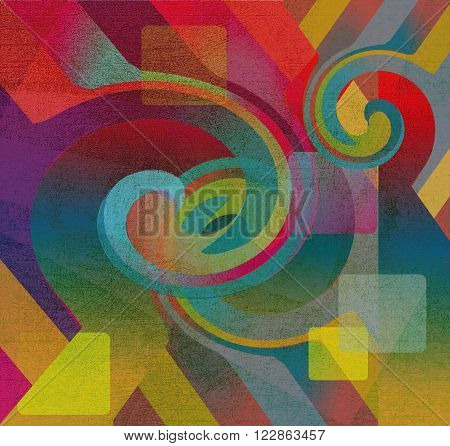 colored abstract shape design shabby motley surface