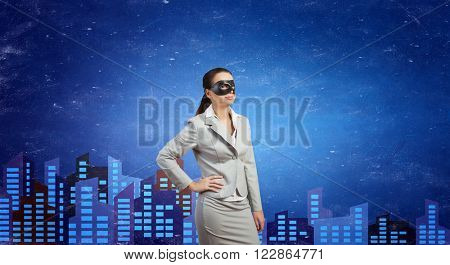 Anonymous woman in mask