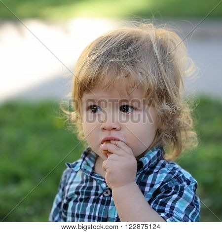 Cute Baby Boy Outdoor