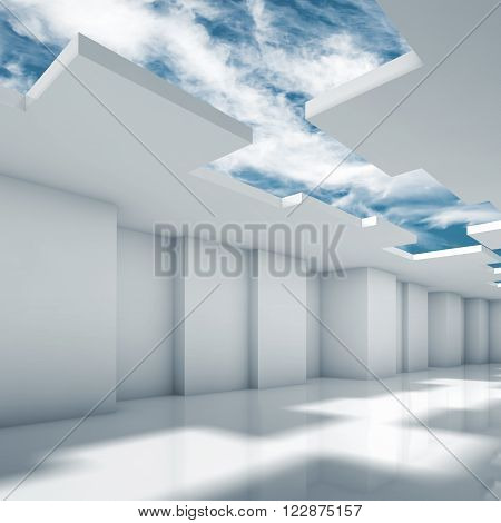 Abstract Modern 3D Interior Design With Corners