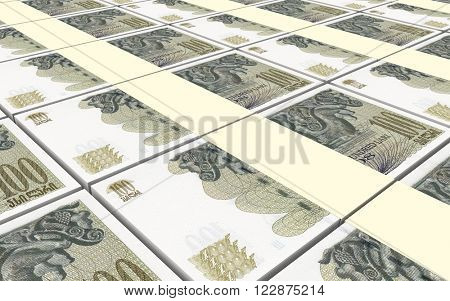Georgian lari bills stacks background. Computer generated 3D photo rendering.