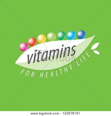 abstract vector template logo vitamins for health