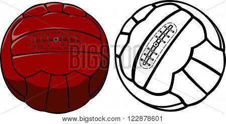 soccer ball - old school or vintage vector ball