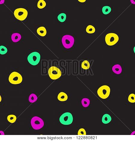 Abstract 90s fashion style seamless pattern illustration background.