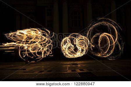 Earth Hour Fire Show Circles