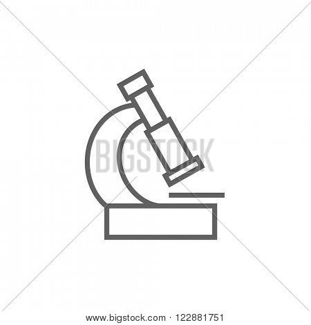 Microscope line icon.