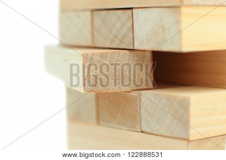 The tower from wooden blocks