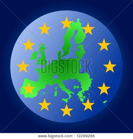 map of European union globe illustration JPG