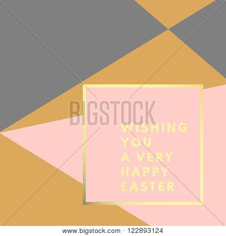 Happy Easter greeting card. Easter minimal printable journaling card, creative card, art print, minimal label design for banner, poster, flyer.