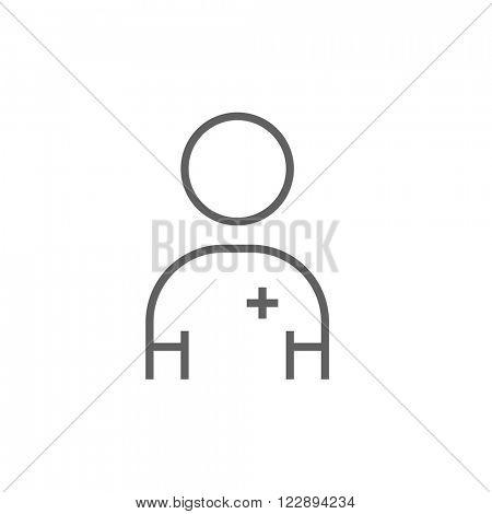 Nurse line icon.