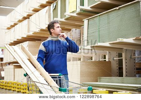Man In Supermarket For Construction