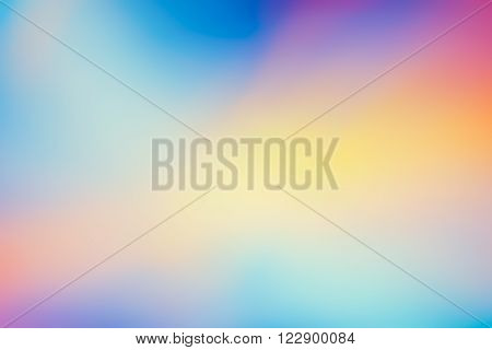 Defocused Dreamy Background - Spectrum of Bright Pastel Colours