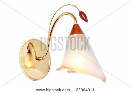 The original sconces with a nice reflection on its elements. On a white background