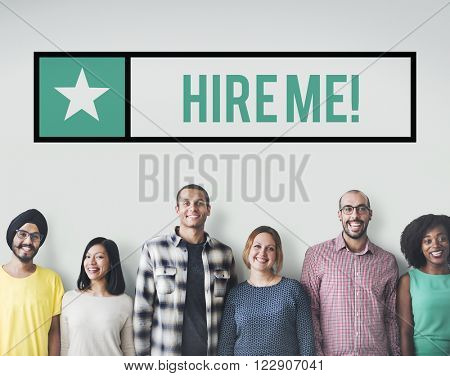Hire me Jobs Headhunting Profession Recruitment Concept