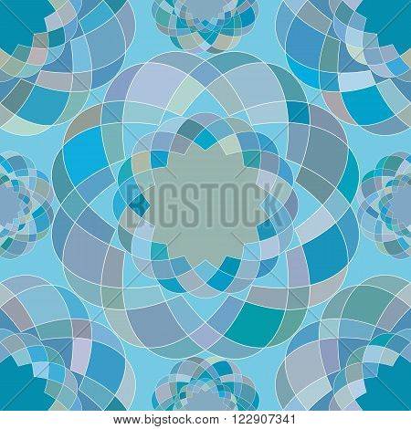 abstract seamless pattern of the repeating mosaic elements. vector illustration