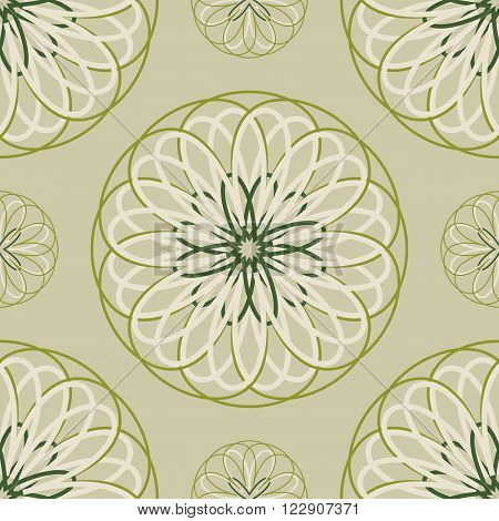 seamless pattern from the circular repeating elements. vector illustration