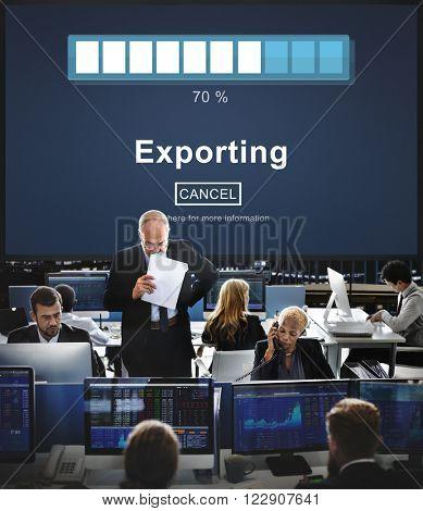 Exporting Convert Loading Progress Concept