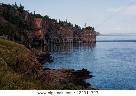 Rocky shoreline of Cape d'Or, Nova Scotia