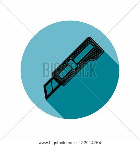 Detailed Vector Illustration Of Razor-sharp Cutter Isolated On White. Repair And Manufacturing Tool.