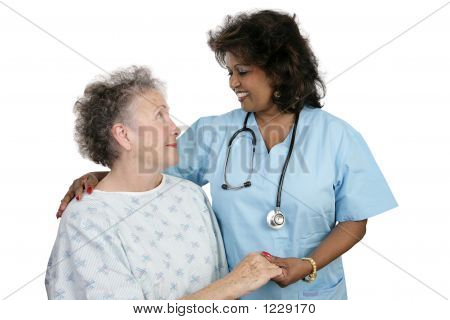 Paciente & enfermeira
