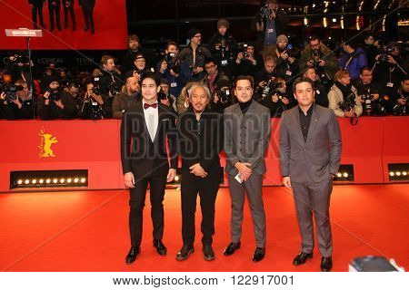 Producer Paul Soriano, actors John Lloyd Cruz, filmmaker Lav Diaz and actor Piolo Pascual attend the closing ceremony of the 66th Berlinale  Film Festival on February 20, 2016 in Berlin, Germany.