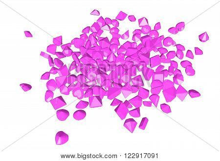 Vector image pinc. Gems on white background.