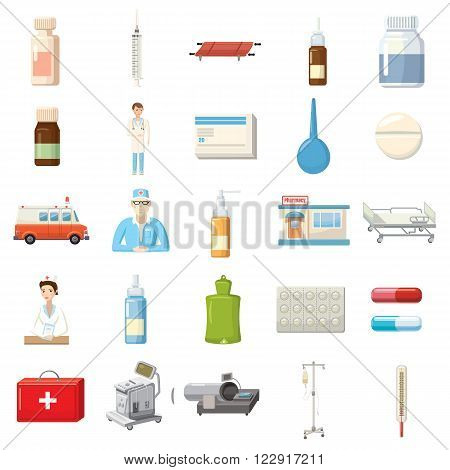 Medicine icons set use for any design
