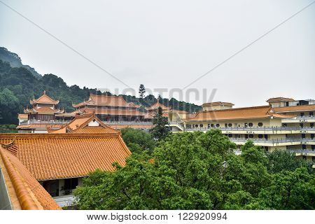 Landscape of the complex of Hongfa temple