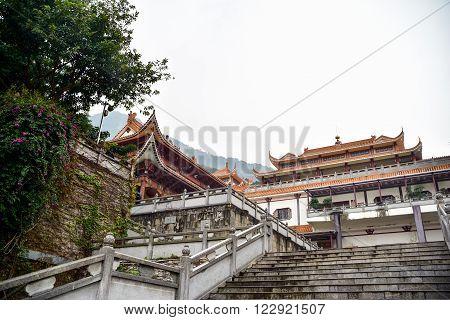 Landscape of Hongfa temple buddhist monastery complex