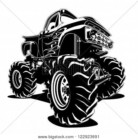 Cartoon Monster Truck. Available EPS-8 separated by groups for easy edit