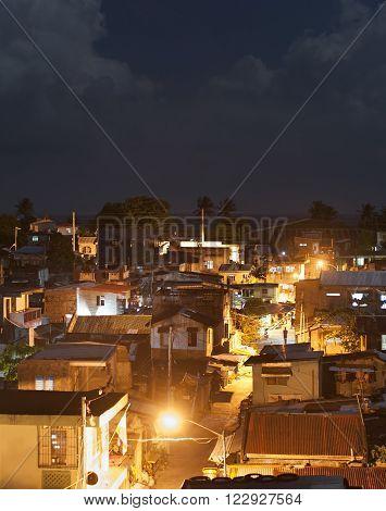 Slums At Night, Philippines