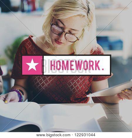 Homework Education Learning Knowledge Intelligence Concept