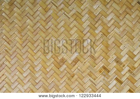 Wicker braided bamboo unpainted wall texture pattern