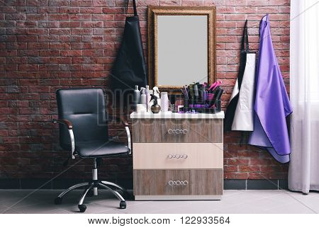 Stylish hairdressing salon