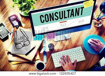 Consultant Advise Adviser Experience Information Concept