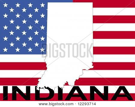 map of Indiana on American flag illustration JPG