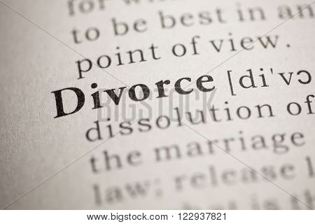 Fake Dictionary Dictionary definition of the word Divorce.