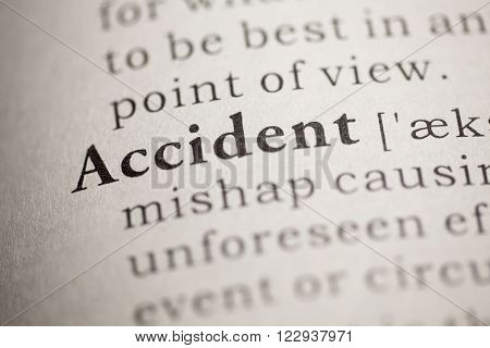 Fake Dictionary Dictionary definition of the word Accident.