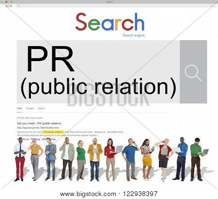 Public Relation Communication Marketing Message Concept